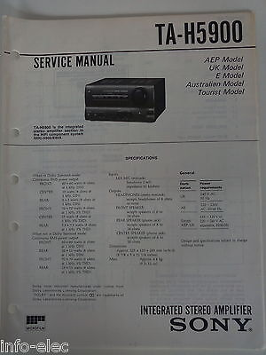 Schema SONY - Service Manual Integrated Stereo Amplifier TA-H5900 TAH5900