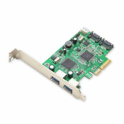 Syba USB 3.0 2-Port and SATA 6Gbps 2-Port PCI-e x4 2.0 Card with Low Profile Bra