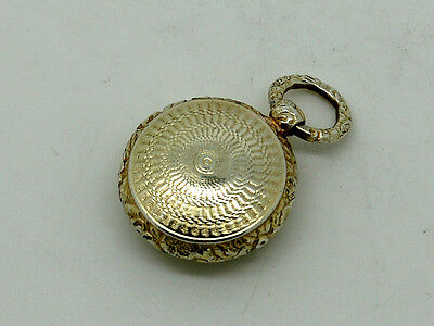 Antique Silver Gilt Vinaigrette fob watch shape Birmingham 1822 – Thomas Shaw