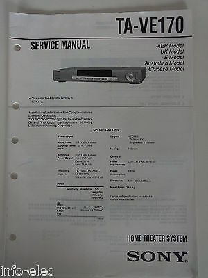 Schema SONY - Service Manual Home Theater System TA-VE170 TAVE170