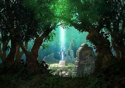 Zelda Sword in the Stone - High Quality  Poster 34 in x 22 in - Fast Shipping