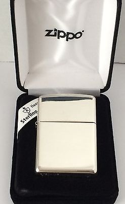 Armor Sterling Silver Zippo Lighter With High Polished Finish, # 26, New In Box