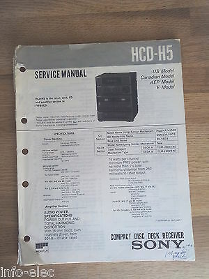 Schema SONY - Service Manual Compact Disc Deck Receiver HCD-H5 HCDH5