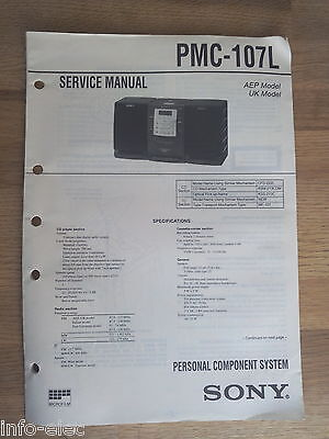 Schema SONY - Service Manual Personal Component System PMC-107L PMC107L