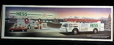 1989 Hess Toy Fire Truck with lights sound and bank WH***