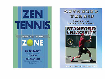 Zen Tennis Book: Playing in the Zone and Advanced Tennis DVD - Free Shipping