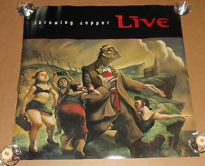 Live Throwing Copper Poster 1994 Original Promo 27x27