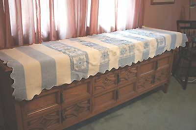 Lovely Long Americana Style Table Runner With Star Pattern