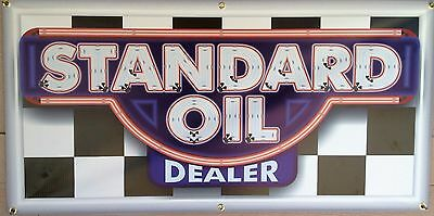 TEXACO GAS SERVICE STATION DEALER NEON STYLE BANNER SIGN GARAGE ART 2/' X 5/'