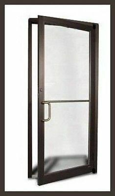"""Storefront Entry Door And Frame, Ada Approved 1/4"""" Glass Preinstalled New In Box"""