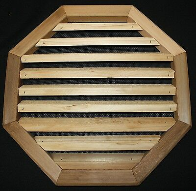 Western Red Cedar Louvered Gable Vent  18 x 18 Octagon Surface Mount