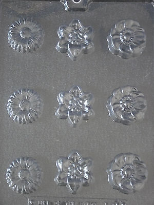 9 Flower Chocolate/Plaster/soap Moulds... #F095