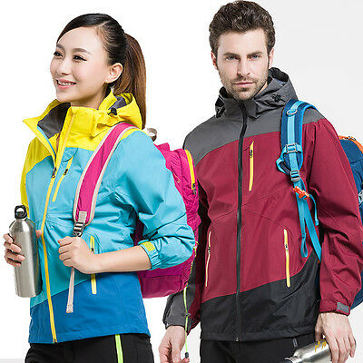 Men Women Couple Outdoor Sports Waterproof Windproof Jacket for Camping Hiking