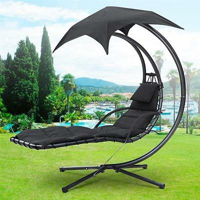 Helicopter Swinging Sun Lounger Hammock DreamChair Seat Cushion Garden Bed