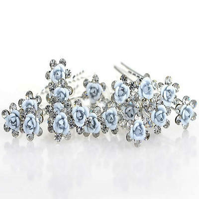 10pcs beautiful roses bridal hair pins hair accessories wedding party A