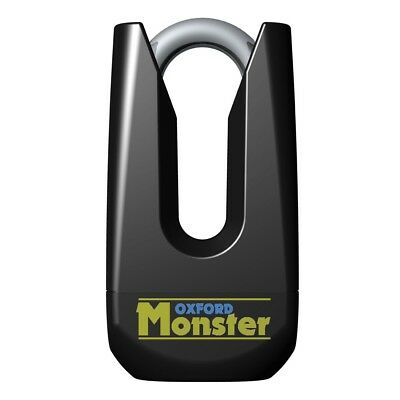 Oxford NEW Mx Motorcycle Security Gold Series Heavy Duty Black Monster Disc Lock