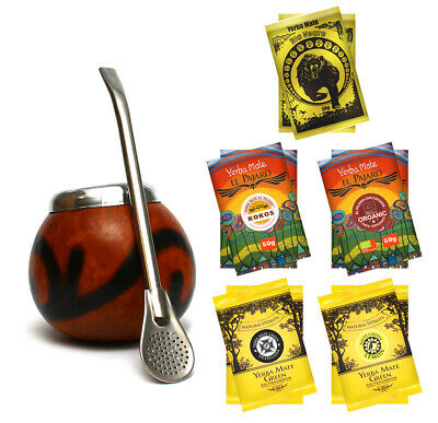 Sensational Yerba Mate set with 5x100g of different kinds+ necessary accessories