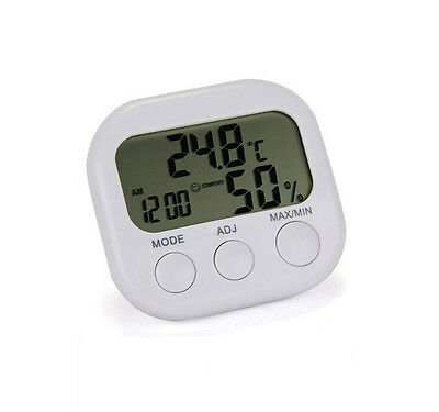 Digital LCD Temperature Humidity New Thermometer Hygrometer  Indoor Clock