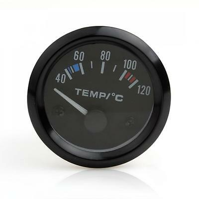 2 Inch 52mm Car Pointer Water Temperature Temp Gauge 40 - 120 Celsius White LED
