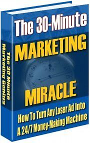 Sale E Book - Essential Reading The 30 Minute Marketing Miracle On Cd
