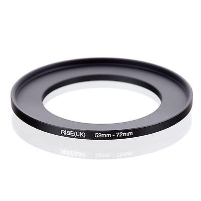 52mm to 72mm 52-72 52-72mm52mm-72mm Stepping Step Up Filter Ring Adapter