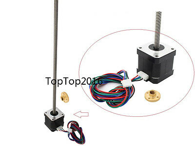 3D Printer NEMA 17 Lead Screw 300mm Stepper Motor Z Axis 8mm pitch for 3DPrinter