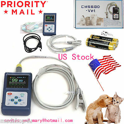 CMS60D-VET Veterinary Pulse Oximeter,Tongue SpO2 Probe,PC Software USB,Battery