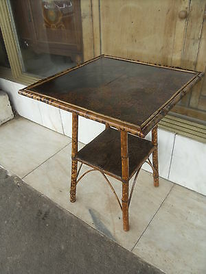 Victorian ' Liberty Style ' Antique Bamboo Occasional Table / Chinoiserie Table