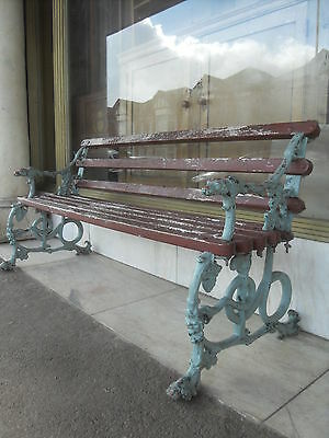 Victorian Coalbookdale Garden Bench / Victorian Antique Cast Iron Bench