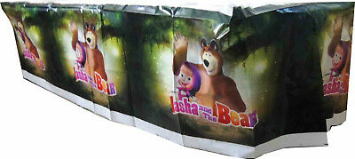 2 Packs Of Masha And The Bear Tablecloth Table Cover (Misprinted See Photo)