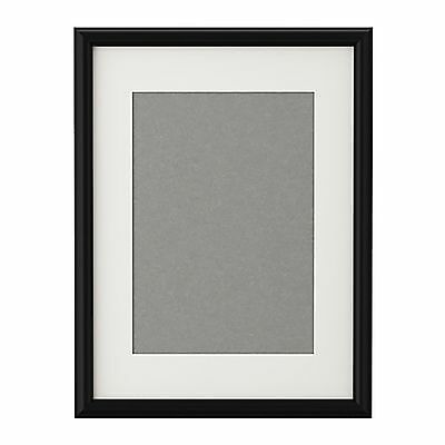 Ikea Black Picture Frame WITH MOUNT Poster Prints Photo Frames A4 A3 All Sizes
