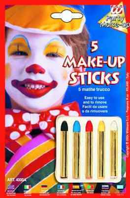 6 Aqua Make Up Schminkstifte Art 4004p Schminke Sticks Widmann