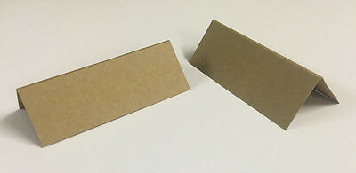 100 Brown Kraft Table Place Name Cards,Wedding Place Names, Card Blanks Free P+P