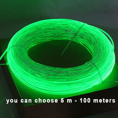5meters 3.0mm Side Glow Fiber Optic Cable  for car light