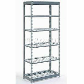 """Heavy Duty Shelving 48""""W x 18""""D x 96""""H With 6 Shelves, Wire Deck"""