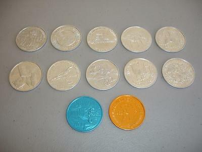 12 Vintage 1970's-80's Doubloon Mardi Gras Coins New Orleans LOOK! SA1774