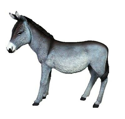 Grey Donkey Resin Statue Life Size Mule Burro Christmas Display Prop - Free Ship