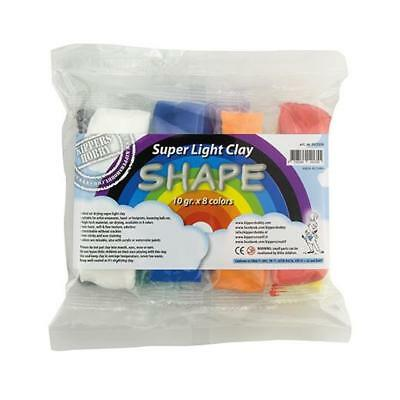 Kippers Hobby Shape Super Light Air Dry Modelling Clay - 10g x 8 Colours