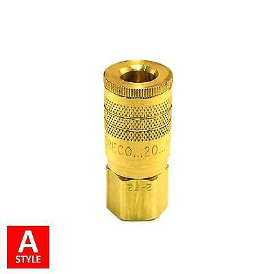"""1/4"""" A Style Air Hose Fittings Aro 210 Quick Connect Couplers Tools Compressor"""