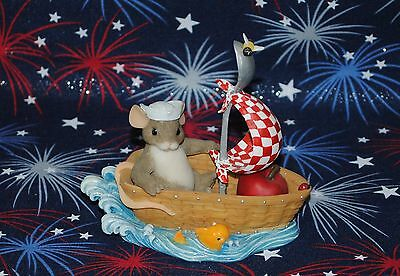 "2003 Charming Tails ""glad We're In The Same Boat"" Longaberger Basket Limited Htf"
