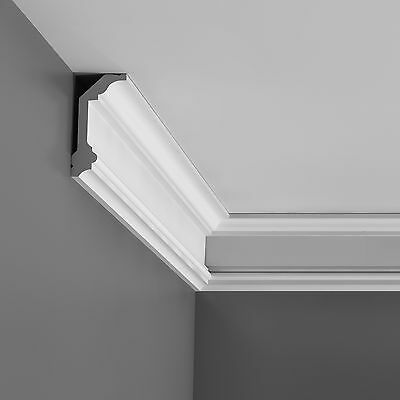 6¾ Ft  Camden Ceiling Cornice Moulding C321 Primed White Polyurethane wall decor