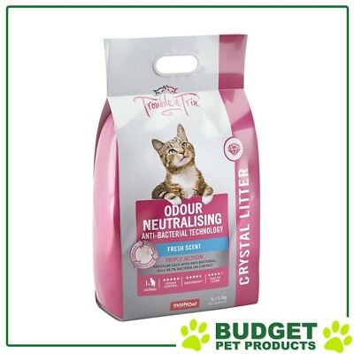 Trouble & Trix Odour Neutralising Anti Bac Fresh Scent Crystal Litter 7L Bag