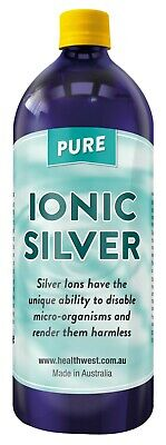 Colloidal/Ionic Silver 1 Litre Positively Charged Bacteriostatic  PPM Guaranteed