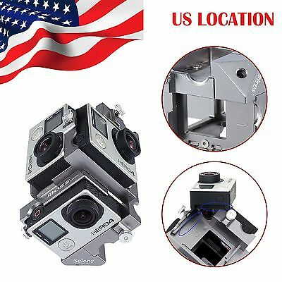 360 Degree Panorama Frame Rig Mount for 6x GoPro HERO 3, 3+, 4 3D Accessories US