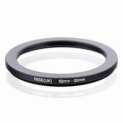 RISE (UK) 62-52MM 62MM-52MM 62 to 52 Step Down Ring Filter Adapter