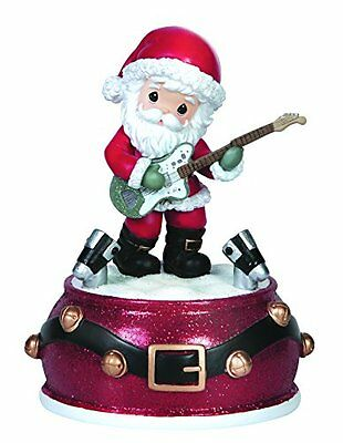 Precious Moments Santa Playing Guitar Musical Figurine, New, Free Shipping