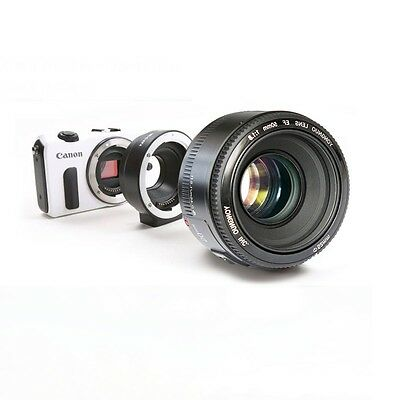 YONGNUO YN EF 50mm f/1.8 AF Lens Aperture Auto Focus + adapter for Canon EOS M 3
