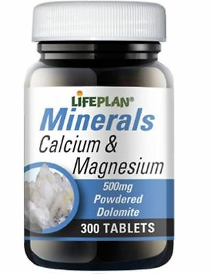Lifeplan Calcium & Magnesium 500mg (300 Tablets)