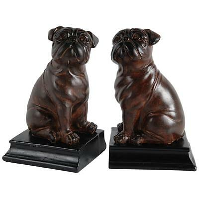 Vintage Antique Pair British Bulldog Dog Home Ornament Decoration Gift Bookends