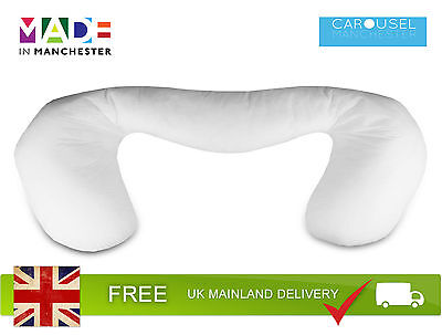 Pregnancy Multi Purpose Support Pillow / Cushion | Removable White Cotton Cover